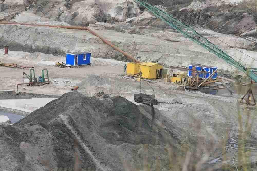 miniera di ambra in Kaliningrad