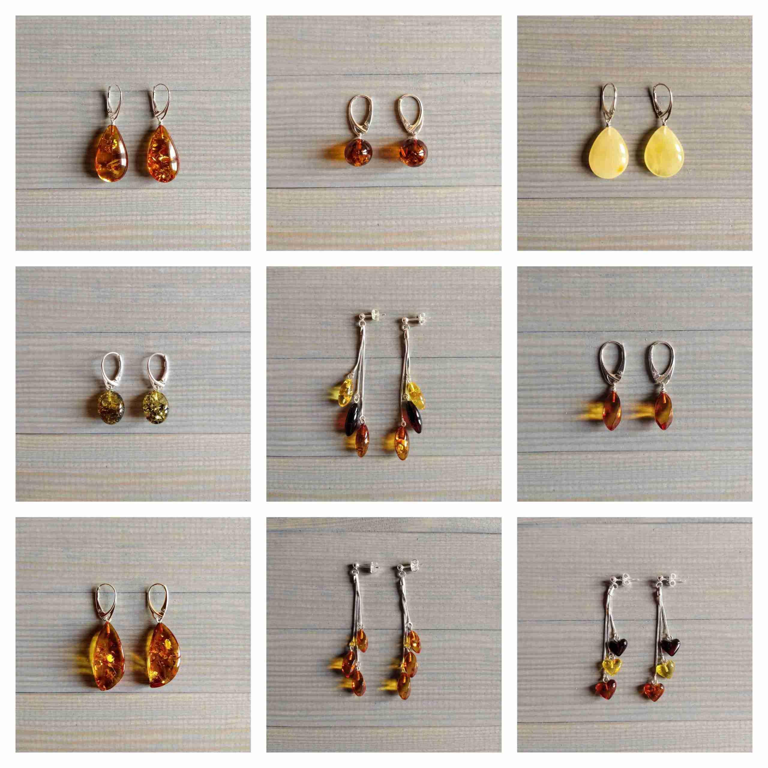 orecchini in ambra baltica shop online